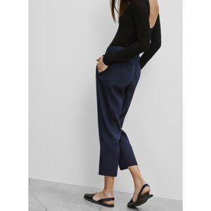 Aritzia Babaton Errol Linen-Blend Drawstring Pant